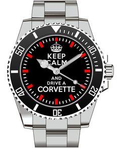 Uhr 1656 - Keep calm and drive a Corvette 1656 von UHR63 auf Etsy