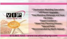 Team VIP Vacations, Destination Wedding experts, www.vacationsbyvip.com