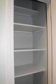 easiest, cheapest ways to add wooden shelves to a pantry or closet. Seriously, all you need is a hammer and nails!the easiest, cheapest ways to add wooden shelves to a pantry or closet. Seriously, all you need is a hammer and nails! Diy Wooden Shelves, Shelves, Pantry Shelving, Home, Closet Shelves, Pantry Redo, Home Diy, Diy Pantry, Shelving