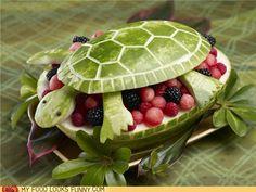 Kids love turtles! #creativefruitanimals