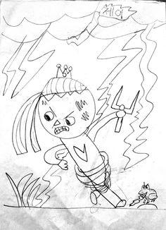 재영이의 제이. 2012년(10세)  레고 닌자고에 빠지더니 이런 그림을...