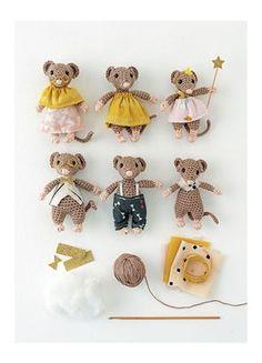 Une famille de souris au crochet
