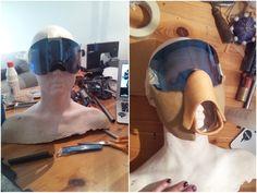 Karin Olava Effects — Destiny Hunter mask - WIP Destiny Hunter Cosplay, Lamellar Armor, Chest Piece, Post Apocalypse, Costumes, Costume Ideas, Mad Max, Gadget, Diys