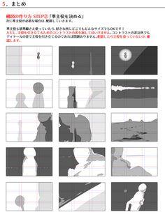 色んな構図の作り方 Guide for impagination and structure of a drawing Comic Tutorial, Manga Tutorial, Animation Tutorial, Animation Storyboard, Animation Reference, Art Reference, Manga Drawing Tutorials, Illustrator Tutorials, Art Tutorials