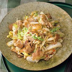 豚バラ肉と白菜の黒酢炒め