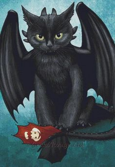 Toothless Cat By Jenny Parks Cross Stitch Kit