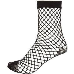 River Island Black fishnet ankle socks (310 RUB) ❤ liked on Polyvore featuring intimates, hosiery, socks, accessories, fishnets, tights, short socks, tennis socks, fishnet socks and fishnet ankle socks