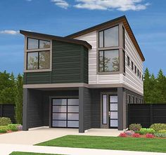 Two-Story Contemporary House Plan - 85100MS | Contemporary, Modern, Exclusive, Narrow Lot, 2nd Floor Master Suite, Butler Walk-in Pantry, CAD Available, Loft, PDF | Architectural Designs
