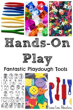 Favorite Playdough tools for Hands on Play Great for center work, and independent play