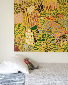 Australian Aboriginal painting by Lady Dixon Nemara Design Sponge Aboriginal Painting, Victorian Cottage, Kids Bedroom, Kids Rooms, Lego Bedroom, Boy Rooms, Room Kids, Kid Spaces, Sweet Home