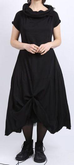 rundholz - Shirtkleid mit großem Kragen black - Sommer 2016 - stilecht - mode für frauen mit format...