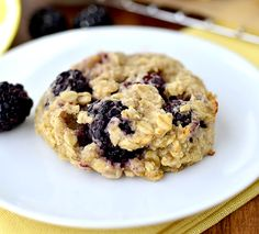 Lemon Blackberry Breakfast Cookies from Iowa Girl Eats