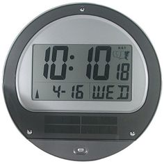 Low Vision Atomic Solar Wall Clock *** You can get more details by clicking on the image.