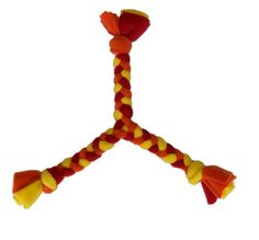 DIY Dog Toy: Fleece Pull ---Perfect I have three doggies one piece for each