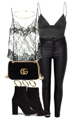 """""""Untitled #2493"""" by theeuropeancloset on Polyvore featuring T By Alexander Wang, Givenchy, Gucci, Nly Shoes and Made"""