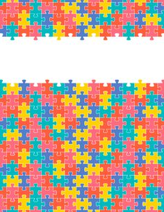 Free printable puzzle piece binder cover template. Download the cover in JPG or PDF format at http://bindercovers.net/download/puzzle-piece-binder-cover/