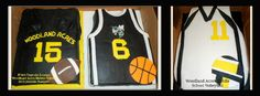 Football, Basket & Volleyball Jersey cakes perfect for the Athletic Banquet