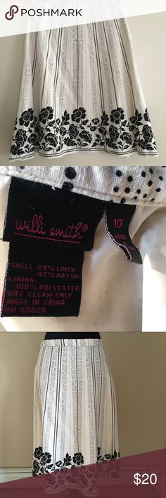 Will Smith Size 10 Midi Skirt Beautiful and classy.  Excellent condition.  Side zip in perfect condition.  Fully lined. Willi Smith Skirts