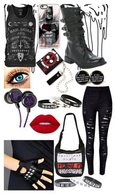 """Untitled #321"" by rainy-kat ❤ liked on Polyvore featuring Blackcraft, Casetify, WithChic, Bakers and Lime Crime"