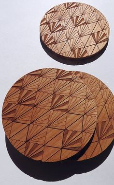 Wood Coasters Engraved Wood Coasters Art Deco