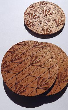 Wood Coasters Engraved Wood Coasters Art Deco