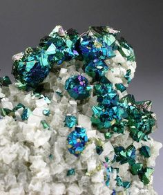 Minerals, Crystals & Fossils — Iridescent Chalcopyrite with Dolomite - Sweetwater...