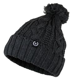 Trendy Winter Warm Soft Beanie Cable Knitted Hat Cap for Women - Charcoal -  C61256HCXW1 - 7e9e909eece