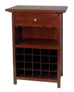 Best Wine Rack | Winsome Wood Wine Cabinet with Drawer and Glass Holder Walnut ** To view further for this item, visit the image link. Note:It is Affiliate Link to Amazon.