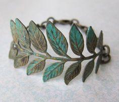 Leafy Verdigris Bracelet