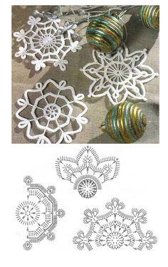 Graph Crochet, Crochet Snowflake Pattern, Crochet Doily Diagram, Crochet Snowflakes, Crochet Flower Patterns, Crochet Designs, Crochet Flowers, Crochet Christmas Decorations, Crochet Decoration