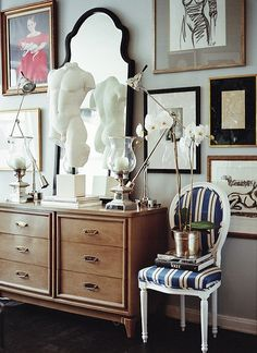 Ryan Korban {eclectic traditional art deco vintage luxe modern living room}...Wow!