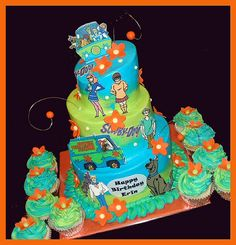 Scooby Doo cake by atasteofwhimsy, via Flickr