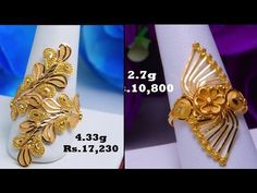 Latest Gold rings with weight and price Gold Ring Designs, Gold Bangles Design, Gold Earrings Designs, Gold Jewellery Design, Gold Jewelry Simple, Gold Rings Jewelry, Gold Bangles Price, Gold Price, Gold Ring Indian