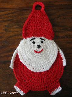 Liisin kortit ja värkkäilyt: JOULUINEN PATALAPPU Crochet Hats, Knitting Hats
