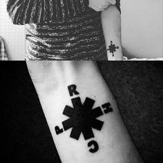 Red Hot Chili Peppers Lyrics tattoo | 25 Nostalgic Tattoos Of Your Favorite 90s Band | Tattoodo