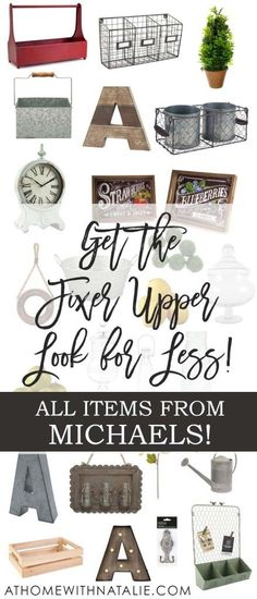 Get the Fixer Upper Look for Less: My Michaels Finds! (At Home With Natalie) Get the Fixer Upper Look for Less: My Michaels Finds! Decor, Home Diy, Rustic House, Fixer Upper, Farmhouse Chic, Home Remodeling, Diy Home Decor, Farmhouse Design, Home Deco