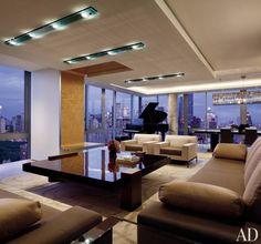 Contemporary Living Room by Hariri & Hariri and Hariri & Hariri in New York City