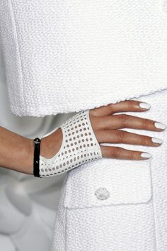 ME 2.0- All White Party :: All white everything nails glove clothes