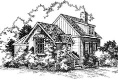 Cabins & Cottages Under 1,000 Square Feet: The Ozarks Plan #730