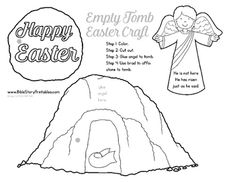 Our FREE Easter Bible Craft is great for you Sunday School or Children's Ministry.  Children color, cut and paste this project together to retell the story of Easter.  He is Risen!----------------------------------------------------------------------------------------------------This craft is shared from our 80+ page Easter Activity Pack  This set includes games, crafts, activity pages, and take home resources for your Resurrection…