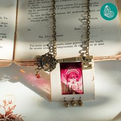 Chain necklace with a recycled charm made from vintage by FraGiu