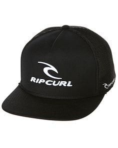 24d7cc03abb Rip Curl Rippy Team Flat Trucker Cap Black Cotton http