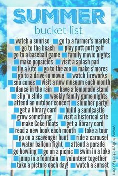 While I'm Waiting...Summer Bucket List!