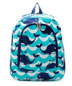 1811226996 Items similar to Splash Whale Backpack FREE Personalziation Book Bag  Overnight School Bag Swim Sports Birthday Ring Bearer Boy Girl Back to  School on Etsy