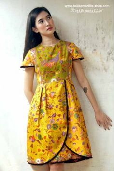 batik amarillis's blooming dress-PO
