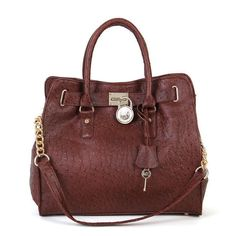 Love this! Very Louis inspired! Michael Kors Outlet Ostrich-Embossed Large Coffee Totes