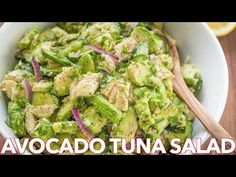 This Avocado Tuna Salad has incredible fresh flavor! Tuna Avocado Salad is loaded with protein. The avocado adds a healthy and highly satisfying creaminess.