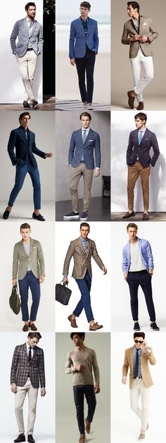 2015 Spring/Summer Men's Chinos Guide: Smart-Casual Style Lookbook Inspiration #menswear