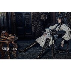 Edie Campbell Gets Equestrian for Alexander McQueens Fall 2014 Campaign