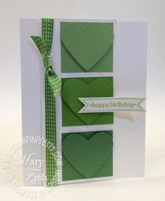 Mary Fish gives an excellent comparison of the StampinUp! new In Colors compared with similar core colors and last year's In Color. (plus peek at a new ribbon and accessory)